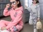 童装春装套装2018新款金丝绒两件套春秋卫衣运动衣服