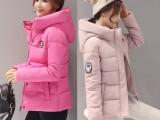 新款轻便轻薄羽绒服女短款韩版大码修身显瘦连帽冬装
