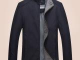 秋装新款中年男式夹克外套中老年立领休闲薄款上衣厂家批发