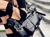 时尚女士包2014秋季新款三条皮带包通勤包复古手提斜跨女包
