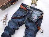男装吉普兄品牌 男式牛仔裤 批发韩版全棉高腰牛仔裤男裤一件代发