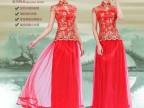 2015新款礼服红色结婚敬酒服唐装长款旗袍夏季新娘结婚礼服批发