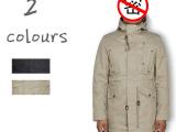 新品9468欧美品牌外贸原单男冬装装纯色带帽M51夹棉冲锋衣外套