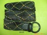 供应手工编织皮带 腰带 松紧带 儿童带 pu带 手腕带
