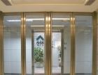 厦门双层玻璃带百叶隔墙 办公室隔断 玻璃门制作