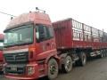 欧曼双驱拖头牵引车13米平板欧曼高低板拖挂车