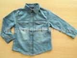 2014外贸原单童装品牌男童衬衫长袖休闲牛仔衬衣上衣