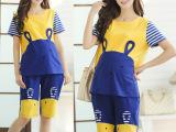 2014天喜新款时尚孕妇套装薄款夏装韩国外出孕妇装短袖短裤9310