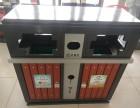 批發新款鋼木垃圾桶120L鐵質環衛垃圾桶 加厚掛車垃圾桶廠家