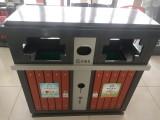 批发新款钢木垃圾桶120L铁质环卫垃圾桶 加厚挂车垃圾桶厂家