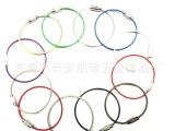 不锈钢钢丝绳钢丝圈各种彩色包胶钢丝绳钢丝圈索具