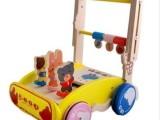 木制婴幼儿童学步车 动物图案学步车益智手推车 可升降学步车