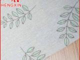 厂家直销 绿树叶手工棉麻家居印花麻布料 窗帘印花麻布