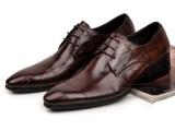 外销欧版秋新品尖头真皮男士皮鞋商务正装皮鞋石头纹透气男鞋单鞋