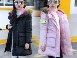 童装女童冬季新款中长款棉服 2016韩版