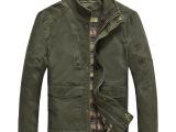 2014新款 AFSJEEP秋装夹克 休闲男士外套夹克 立领纯棉