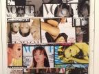 十字纹中印时尚杂志印花料主题封面皮套装饰材料人造革半pu皮革