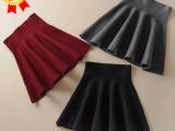 2014韩国东大门纯色大摆高腰 半身裙 蓬蓬裙 冬季短裙 厂家直