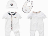 夏季新款可爱泰迪熊宝宝连身衣+帽子+口水巾三件套