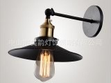 美式乡村工业风黑色灯 爱迪生 灯泡壁灯 复古黑色壁灯 工艺壁灯