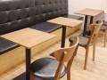 快餐桌椅快餐馆桌椅曲木快餐桌肯德基餐桌