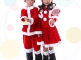 儿童圣诞节服装 男女童圣诞服饰 万圣节表演服童装圣诞老人衣服