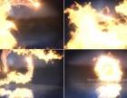 火焰火舞标志揭示动画ae模板