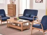 北欧简约韩式沙发进口白橡沙发组合实木家具布艺沙发宁津莱美家具