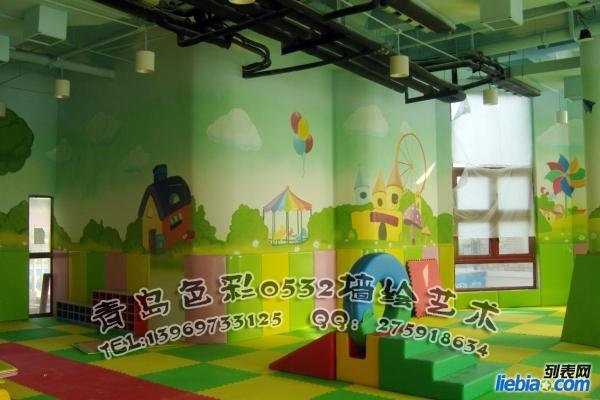 青岛幼儿园彩绘 幼儿园外墙彩绘 儿童房墙体彩绘 儿童房彩绘