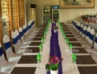 低价出租大量桌椅长方台餐具等物料