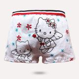 供应最新爆款 卡通天使猫猫 纯棉 莱卡棉女平角 儿童内裤批发