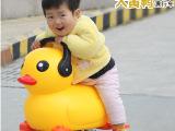大小黄鸭可坐可骑学步助力车代步溜溜宝宝童车360度转声光车