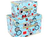 新款咖啡方圆收纳盒 覆膜收纳盒 防水可擦