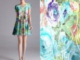 厂家直销夏季爆款女装面料 网布绣花布 盘花绣 质量保证