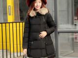 2015冬季新款女装羽绒棉衣棉服 韩版时尚保暖女式中长款棉袄外套