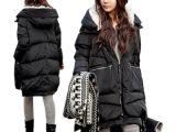 新款冬装 韩版女款 加厚 羽绒服女中长款 工装款品牌女 厂家批发