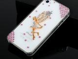 iphone5s手机壳 苹果透明贴钻手机壳 小清新苹果5s手机保