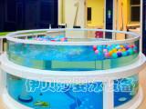 徐州時尚正圓環流玻璃游泳池