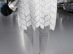 2015春季新款 韩国蓉树叶蕾丝镂空半身裙子 中裙 包臀裙显瘦女
