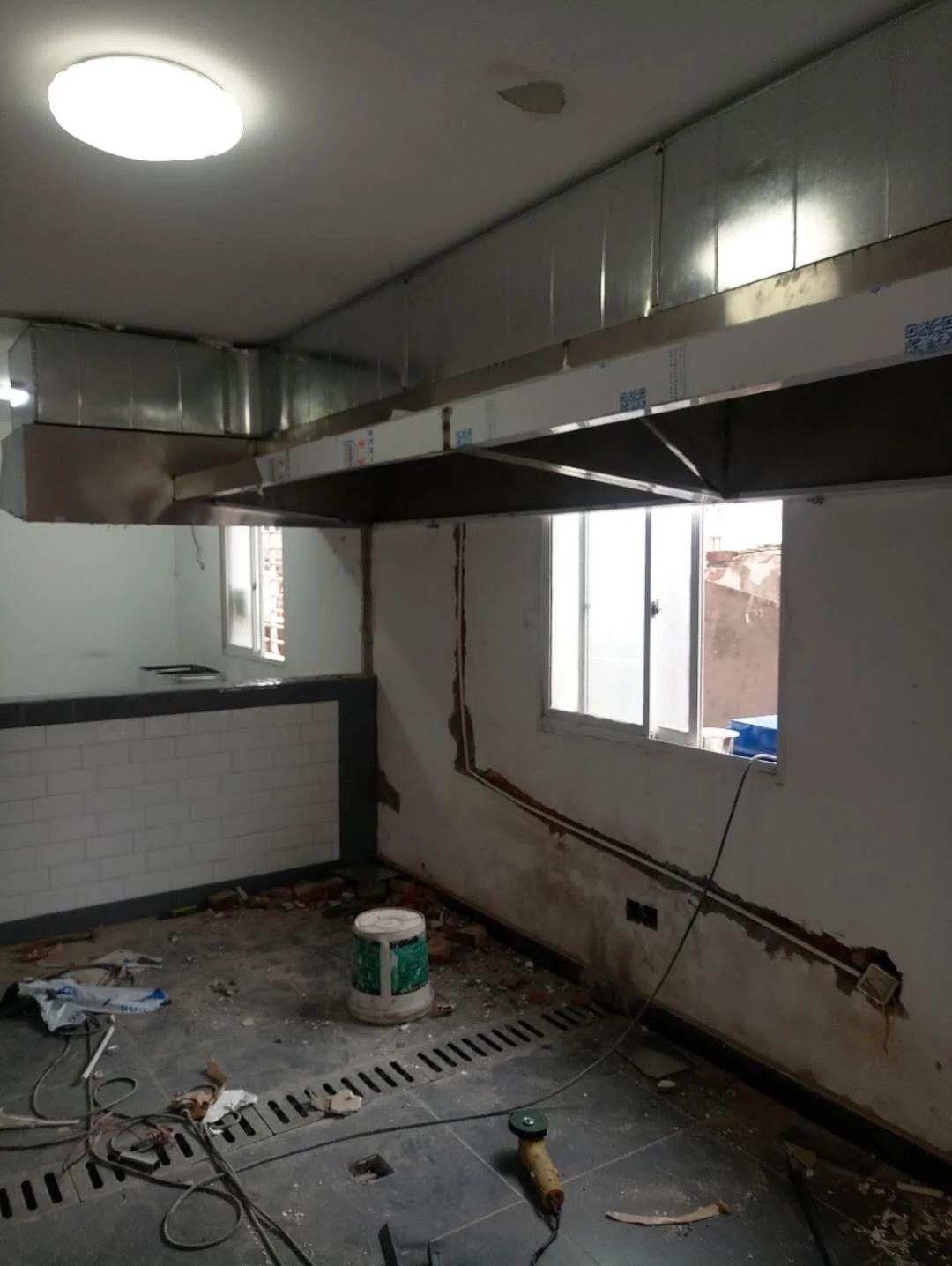 南昌厨房烟罩安装,南昌餐馆风机安装,南昌餐馆净化器安装的电话