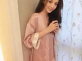 一件代发2014夏新款女欧美大牌性感蕾丝花边睡衣+吊带裙两件套