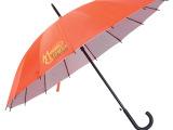 厂家直销可加印LOGO高密银胶黑直杆(自动)16K礼品雨伞