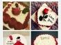 免费送货蛋糕订制送货上门情人节蛋糕玫瑰蛋糕