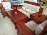 全新实木沙发五件套