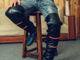 摩托车护膝 电动车护膝批发 冬季真皮护膝保暖 防风防水加绒护腿