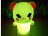 七彩闪光小夜灯LED灯发光玩具地摊热销货源批发款式齐全大眼熊