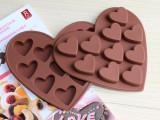 供应DIY烘培 巧克力模 冰格冰块模具爱心形状10连小爱心 蛋糕