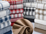 批发加厚复古格子纯色条纹加厚粗麻布棉麻抱枕面料高档沙发布料