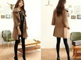 2014最新热卖韩版大气个性毛呢外套新款外套女装批发新款秋冬现货