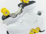 工厂批发 安格卢特变形鞋 两用轮滑旱冰溜冰鞋子四轮双排溜冰鞋子